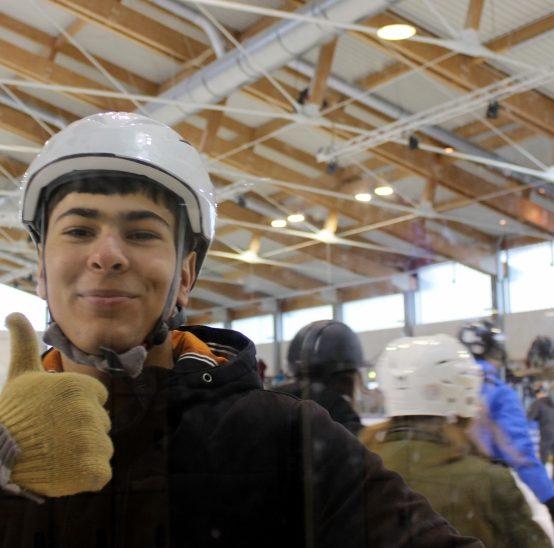 Schulausflug in die Eishalle
